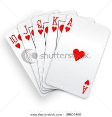 royal straight flush images