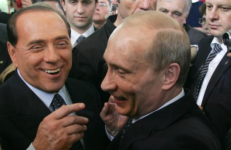 Vladimir Putin Meets With Silvio Berlusconi