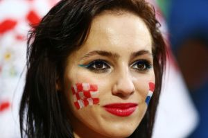 Croatia+fan+at+Republic+of+Ireland+v+Croatia+game+