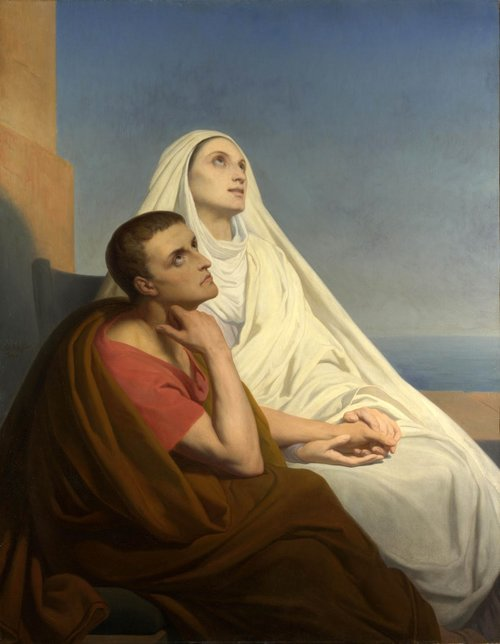 Saint Augustine and his mother, Saint Monica by  Ary Scheffer ,1846
